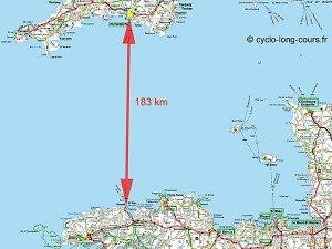 Carte entre Roscoff et Plymouth 01