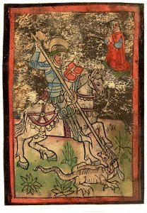 Enluminure de Saint Georges de 1430